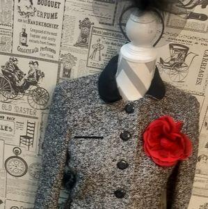 Ann Taylor LOFT Tweed Skirt Suit Size 6P